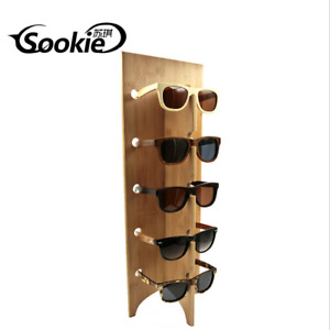 Wooden Sunglasses Eye Glasses Display Rack Stand Holder Organizer 5 Layers Gift