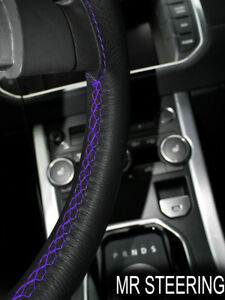 Fits Volvo Vnl 610 Truck 98 06 Leather Steering Wheel Cover Purple Double Stitch