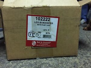Bell Gossett Hot Water Circulator Pump ld Series Ld3 102222