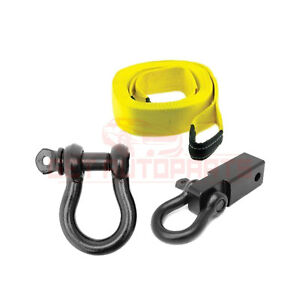 Smittybilt Universal Kit Tow Strap D ring Mount D ring Forged Construction
