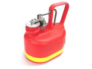 New Justrite 1 2 gallon Oval Non metallic Safety Gas Can 14065