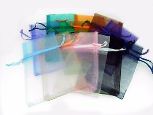 12 Pcs 3 X 5 1 2 Organza Pouch Bags Mixed Colors Pre Packaged