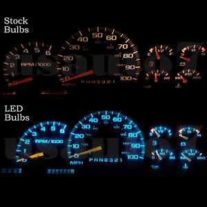 New Dash Instrument Cluster Gauge Aqua Blue Led Light Kit Fit 95 04 Chevy Blazer