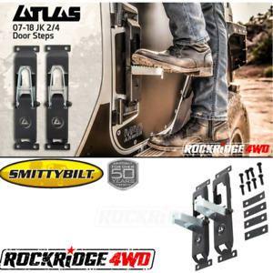 Smittybilt Atlas Door Steps pair For Jeep Wrangler Jk 07 18 7630