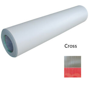 Cross Pattern 0 69x31yard 3mil Adhesive Cold Laminating Film Free Shipping