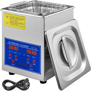 New Stainless Steel 2 Liter Industry Heat Ultrasonic Cleaner Heater W timer
