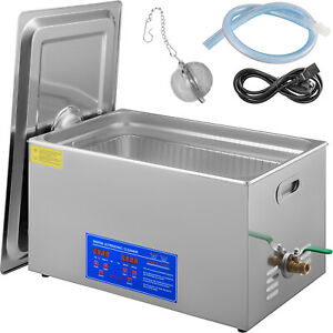 New 30l Ultrasonic Cleaner Stainless Steel Industry Heated Heater W timer