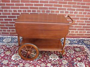 Henkel Harris Solid Cherry Tea Cart 1977