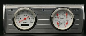 1941 1942 1943 1944 1945 1946 Chevy Truck Gauge Dash Panel Quad Style Set White