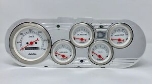 1963 1964 1965 Chevy Nova 5 Gauge Cluster Metric White