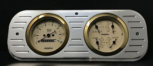 1937 1938 Chevy Car Gauge Cluster Quad Style Gold