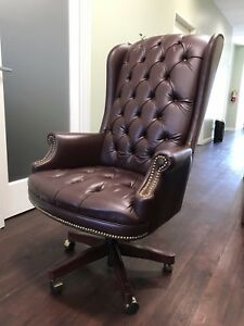 Slightly Used Two Premium Executive Leather Chairs