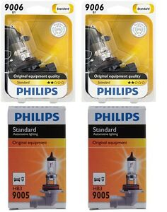4x Philips 9005 9006 High Quality Vision Halogen Light Bulb Lamp High Low Beam