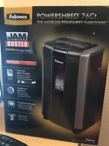 Powershred 76ct 16 sheet Cross cut Heavy Duty Paper Shredder With Jam Buster