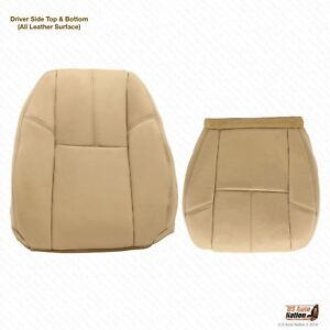 2011 2012 Chevy Avalanche Driver Bottom Lean Back Cashemere Tan Leather Cover