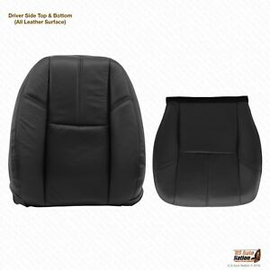 2007 2008 Chevy Avalanche Driver Bottom And Lean Back Black Leather Seat Cover