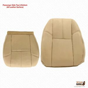 2010 2011 2012 Chevy Avalanche Passenger Bottom lean Back Tan Leather Seat Cover