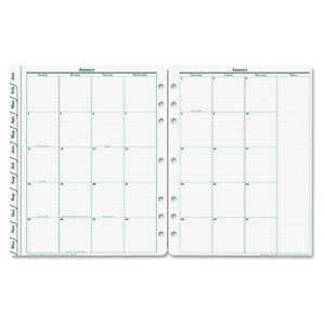 Original Dated Monthly Planner Refill 8 1 2 X 11 Jan To Dec 2018 12 Month