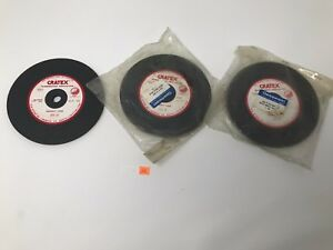 Cratex Rubberized Abrasives 604 xf Straight Wheel Extra Fine New Lot Of 3 Ae