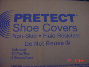Pretect Disposable Shoe Covers 150 Pair Case Chemical Water Resistant