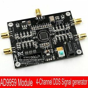 New Ad9959 4 channel Radio Frequency Rf Signal Source Generator Dds Module