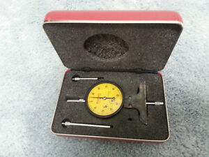 Starrett 644mjz Metric Dial Depth Gage 0 75mm Range 0 01mm Graduation W case