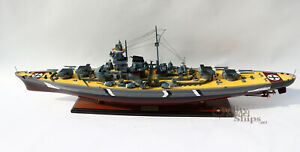 Quality Handcrafted Bismarck 39 Wooden Warship Display Model