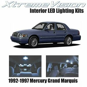 Xtremevision Led For Mercury Grand Marquis 1992 1997 8 Pieces Cool White Premi