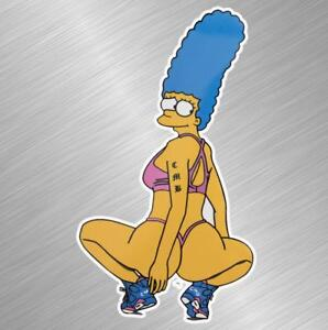 Simpsons Stripper Pinup Girl Vinyl Decal Sticker Funny Car Truck Laptop Wall