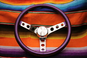 Mooneyes Purple Metalflake Steering Wheel 13 With Holes In Spokes Rat Fink Rod