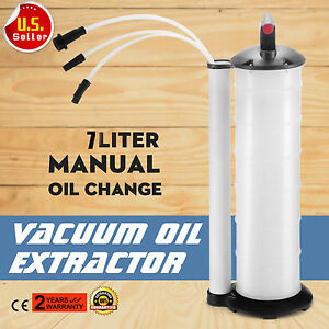 Vacuum Oil Fluid Extractor 7l Manual Fuel Petrol Syphon Pump Transfer Suction Ht