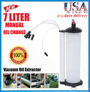 Oil Fluid Extractor 7l Manual Vacuum Fuel Petrol Pump Transfer Syphon Suction Ht