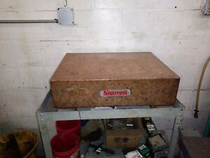 Starrett Granite Surface Plate Crystal Pink 24 x 18 x 6