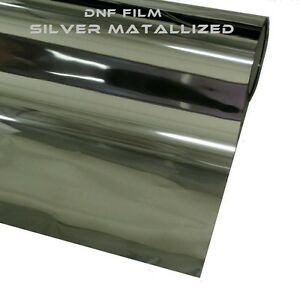 One Way Silver Mirror Reflective 2ply Window Tint 15 60 X 100 Feet Free Gift