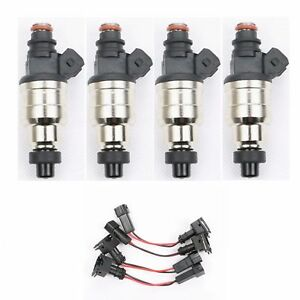 4 500cc Fuel Injectors For Honda D16 D18 B16 B18 B20 F22 H22a Vtec Free Clips