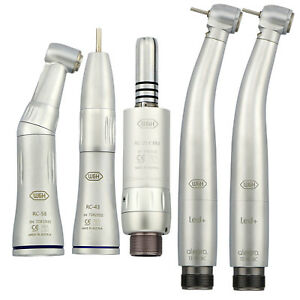 W h Type Dental Inner Water Low Speed Contra Angle Kit High Speed Led Handpiece