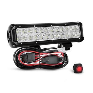 Nilight Led Light Bar 12 Inch 72w Spot Flood Combo With Off Road Wiring Harne