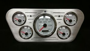 1953 1954 1955 Ford Truck 5 Gauge Gps Dash Cluster White