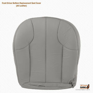 2001 Jeep Grand Cherokee Laredo Driver Bottom Replacement Gray Leather Cover