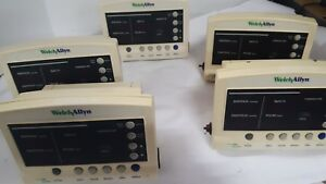 Lot Of 5 Welch Allyn 52000 Series Vital Signs Monitor Spo2 Temp Tested Works