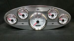 1934 Ford Truck Gps Gauge Cluster White