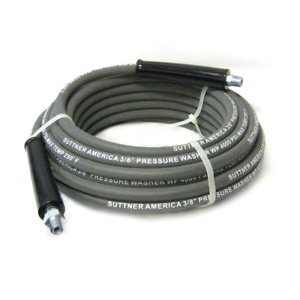 Suttner B3v00352 50 Gray 4000 Psi 3 8 Pressure Washer Hose Mnpt X M Swivel