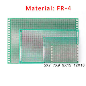 Single Side Tinned Prototyping Pcb Universal Stripboard Board Fr 4 Glass Fiber