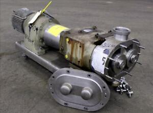 Waukesha 3 Rotary Positive Displacement Pump Model 130 Stainless 46536007