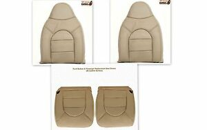 2000 Ford F250 Lariat Driver Passenger Tops Bottoms Leather Seat Cover Tan
