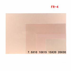 Double Sided Copper Clad Pcb Fr4 Laminate Board 7 5x10cm 10x15cm 15x20cm 20x30cm