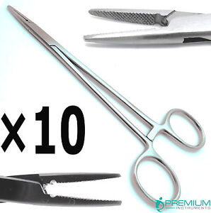10 Crilewood Needle Holder 6 Locking Ratched Dental Surgical Instruments