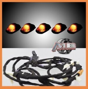 Smoked Amber Led Cab Roof Lights 5pc 17 18 Ford F250 F350 Super Duty With Wiring