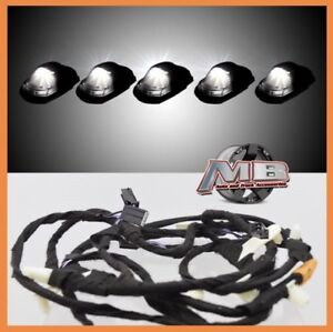 Smoked White Led Cab Roof Lights 5pc 17 18 Ford F250 F350 Super Duty With Wiring