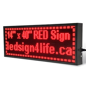 40 x14 Led Sign Programmable Scrolling For Semi Outdoor And Window